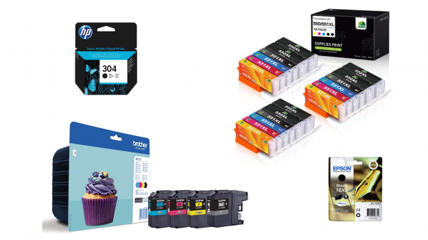 Cartuccia originale compatibile per stampante inkjet HP, Canon, Brother e Epson