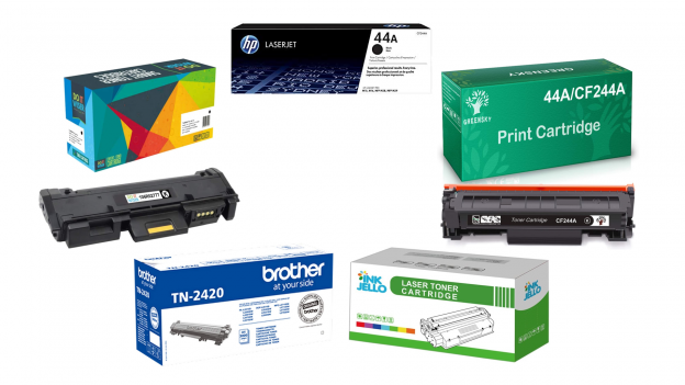 Cartuccia toner originale compatibile per stampante laser HP, Brother e Samsung
