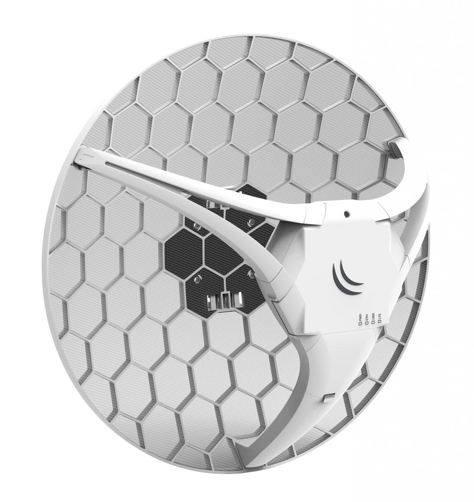 Antenna esterna parabolica con modem router 4G LTE Cat. 6 integrato MikroTik LHG LTE6 kit