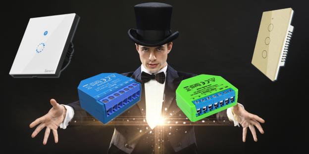 Interruttore WiFi Smart senza neutro: Sonoff T4EU1C, Shelly 1L, Shelly Dimmer 2 e Moes