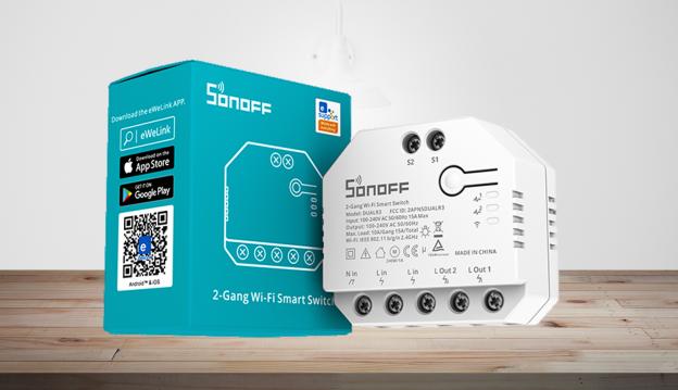 Sonoff Dual R3: interruttore WiFi a due canali